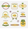 Passion fruit set of label vector