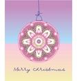 Card with christmas ball vector