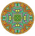 Decorative design of circle dish template vector