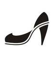 Black high heel vector