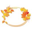 Bright autumn floral frame vector