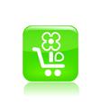 Flower buy icon vector