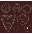 Set of old dark vintage labels of grunge style vector