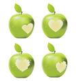 Green apple bite vector