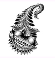 Decorative silhouette of a floral paisley vector