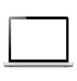 Laptop display screen isolated on white background vector