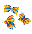 Bright butterflies vector