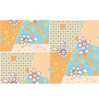 Seamless cute abstract summer pattern vector