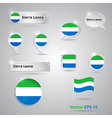 Sierra leone icon set of flags vector
