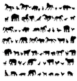 Animals and birds silhouette set vector