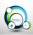 Blue bubble abstract banner vector