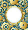 Cogwheel gear document template vector