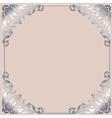 Silver frame vector