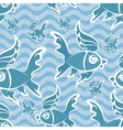 Fishes pattern vector