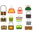 Leather handbags vector