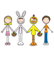 Kids holding hands vector