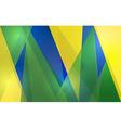Abstract geometric brazil flag vector
