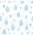 Abstract textile blue rain drops seamless pattern vector