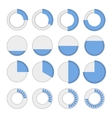 Round infographic elements and pie charts set vector