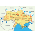 Ukrainian gas transportation system vector