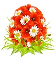 Spring flowers in the shape of easter egg vector