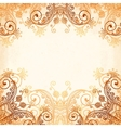 Ornate vintage circle pattern in mehndi style vector