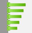 Green folded paper navigation menu backgrounds vector