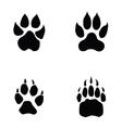 Lion tiger wolf bear footprint vector