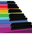Colorful piano keys vector