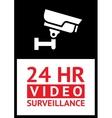 Sticker camera surveillance vector
