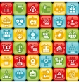 Robots on buttons vector