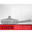 Frying pan kitchen utensils vector