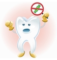 Tooth protesting against candies vector