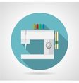 Flat icon for sewing machine vector