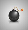 Black bomb icon vector