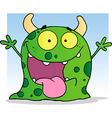 Happy little monster cartoon character vector
