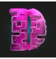 Pink plastic figure d vector
