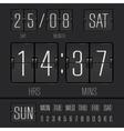 Analog black scoreboard vector