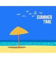 Summertime holidays card vector