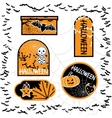 Halloween sale tags isolated bubbles for you vector