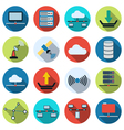 Network flat icons vector