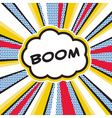 Boom pop art explosion vector
