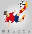 Soccer player kicks the ball vector
