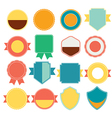 Set of color retro vintage badges and labels vector