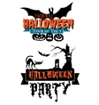 Happy halloween party banners vector