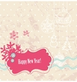 Scrapbook new year card vector