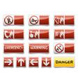 Danger warning sign set vector
