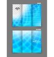 Bright tri fold brochure vector