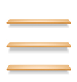 Wooden shelves vector