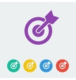 Target flat circle icon vector